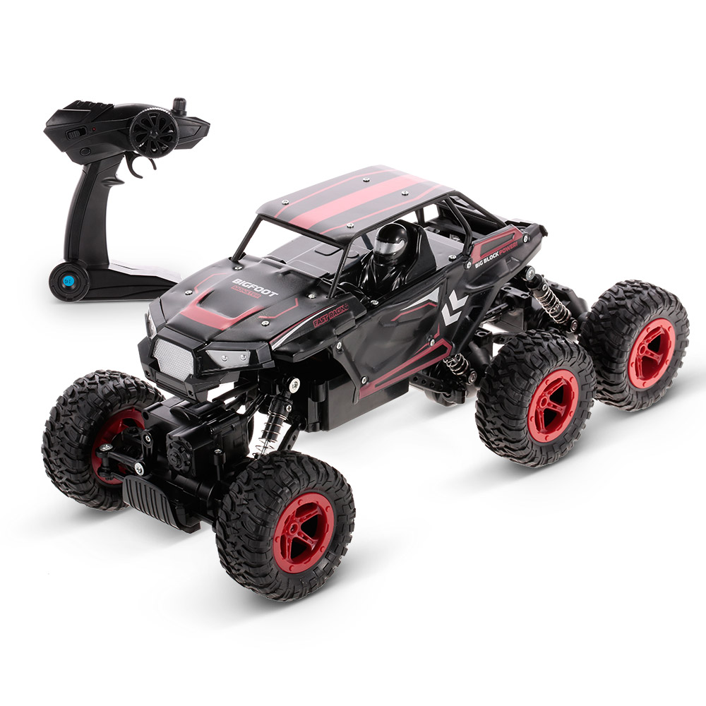 YI DA JIA D819 1/14 2.4G 6WD Rc Car Double Motor Rock Crawler Off-road Truck Toy Blue Red Models Ready to Go Gifts for Kids все цены