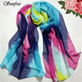 Sunfree 2016 Fashion Hot Sale Women Chinese Ink Style Wrap Lady Shawl Chiffon Scarf Scarves New Design High Quality Oct 1