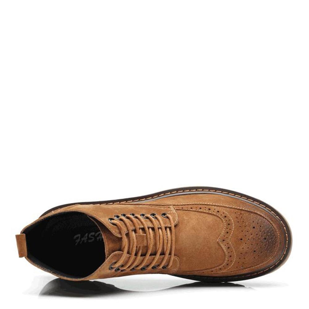 Vintage 2018 Mode Chaussures green En brown Automne Hiver De À Suede Bottes Cheville Black Qffaz Hommes Bullock Cuir Lacets PXnON0wk8