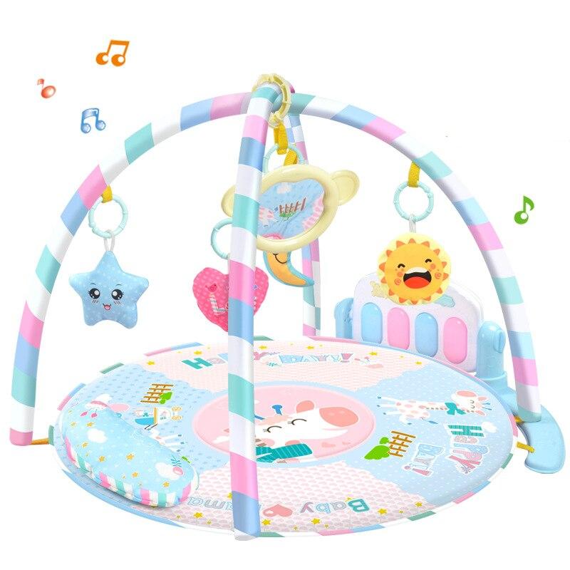 Bébé jouets doux activité cadre pédale Piano Musical jeu tapis Musical tapis Musical petite enfance jouets nouveau-né bébé cadeau jouets de noël