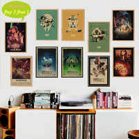 Classic Vintage Movie Star Wars Poster Cafe Bar Home Decor Painting Retro Kraft Paper Wall Sticker