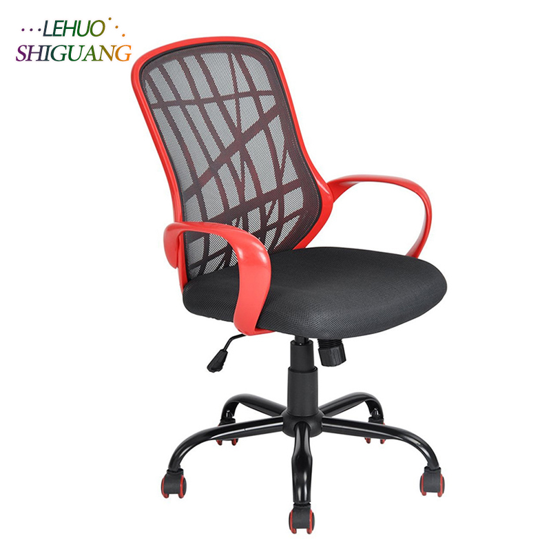все цены на Middle Back Black Metal Five Stars Feet Anomaly Grid Office Chair Rotating lift soft office chair Fashion office furniture
