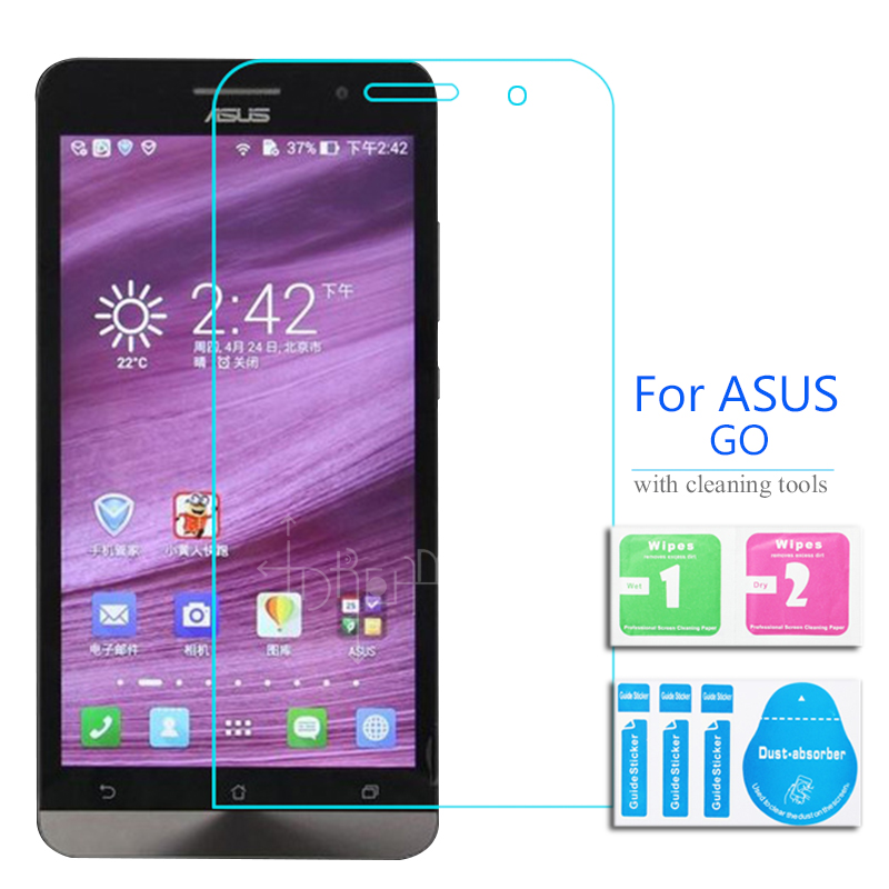 Full Body Front Tempered Glass For Asus ZenFone Go 5.0 Dual glass Screen Protector on ZC500TG Sim