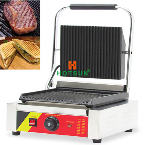 Commercial Nonstick 110V 220V Electric Sandwich Panini Grill Press Machine free shipping commercial non stick 220v electric sandwich plate panini grill press machine
