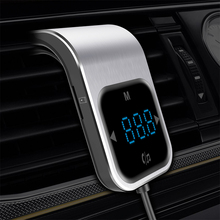 цена на CDEN Touch button car MP3 player Bluetooth car FM transmitter dual USB charger TF card music player hands-free phone car audio