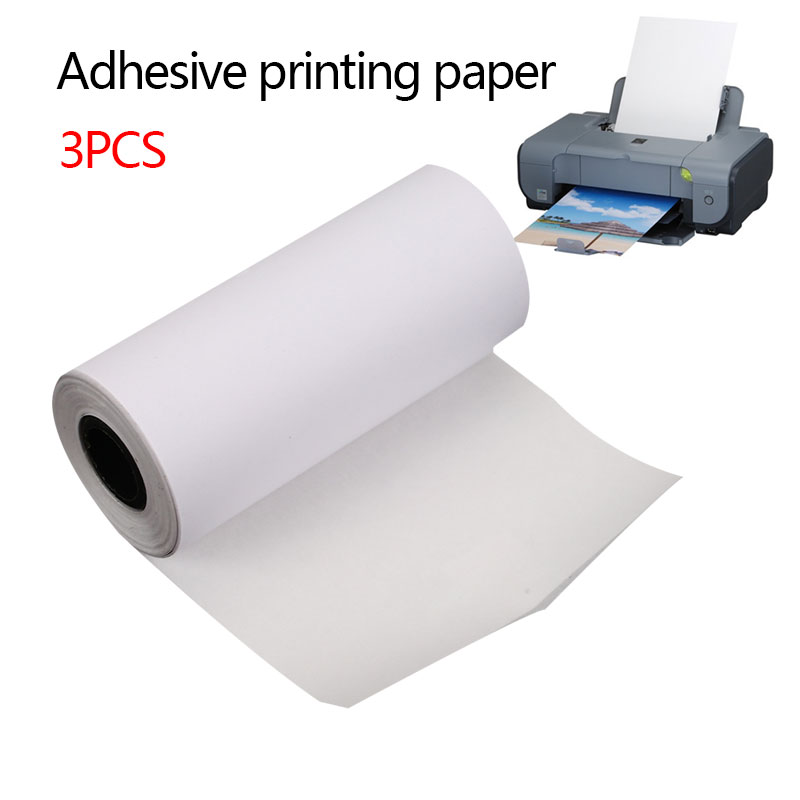 New 3Pcs Self-adhesive Printing Paper Adhesive Photo Printing For MEMOBIRD GT1 GO G3 Convenient Printer 57x25mm For Office