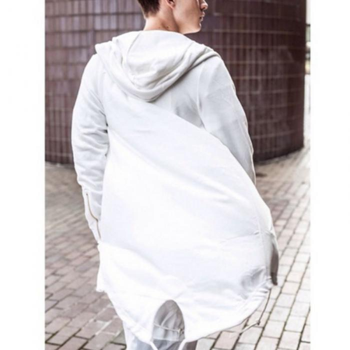 HTB14jhTdwKG3KVjSZFLq6yMvXXag Newly Men Hooded Gown Hip Hop Mantle Coat Hoodies Loose Sweatshirts Long Sleeves Cloak Autumn Winter Outwear DOD886