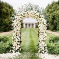 Arco De La Boda Decoración de Jardín De Metal blanco Nupcial Del Baile de La Flor Decoración