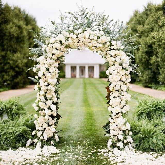 Metal blanco Arco de la boda decoracin del jardn fiesta nupcial