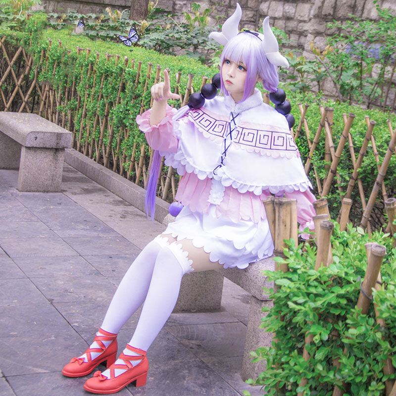 2017 New Japanese Anime Miss Kobayashi's Dragon Maid Kanna Kamui Cosplay Costumes Halloween Party Kawai Dress For Women