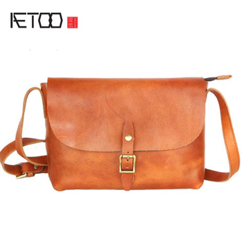 4e6559e9265c AETOO Новая мужская сумка Досуг кожаная посылка пакет дубления простой  посылка тенденция