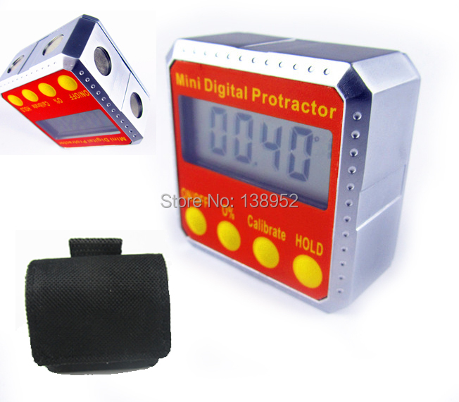 Electronic Angle Instruments : Sides magnets digital protractor inclinometer