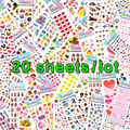20 Sheets Lots Wholesale Kawaii Emoji Reward Kids Children Toys Scrapbooking Bubble Puffy Stickers Factory Direct Sales 0001-m20