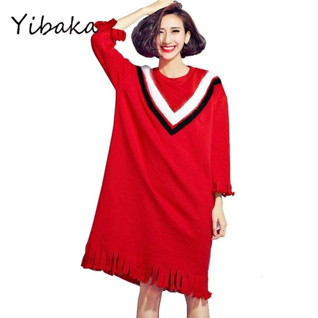Yibaka 2017 Plus Größe Winter Kleider England Stil Einzigartig ...