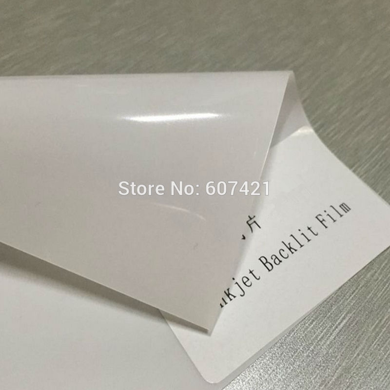 (Pack of 10pcs) A4 Blank Eco-solvent Waterproof PET Reflective Advertising Material Inkjet Backlit Pet Film 180GSM (Not print)