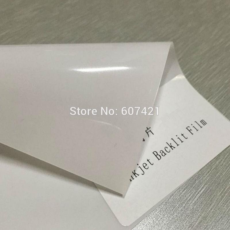(Pack Of 10pcs) A4 Blank Inkjet Backlight Paper PET Reflective Advertising Material Inkjet Backlit Pet Film 180GSM (Not Print)