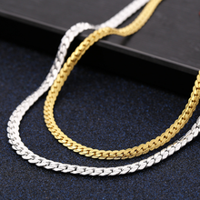 New Arrival 5mm Stainless Steel Mens Chain Necklace Hot Horsewhip Punk Jewelry Gifts Gold Silver