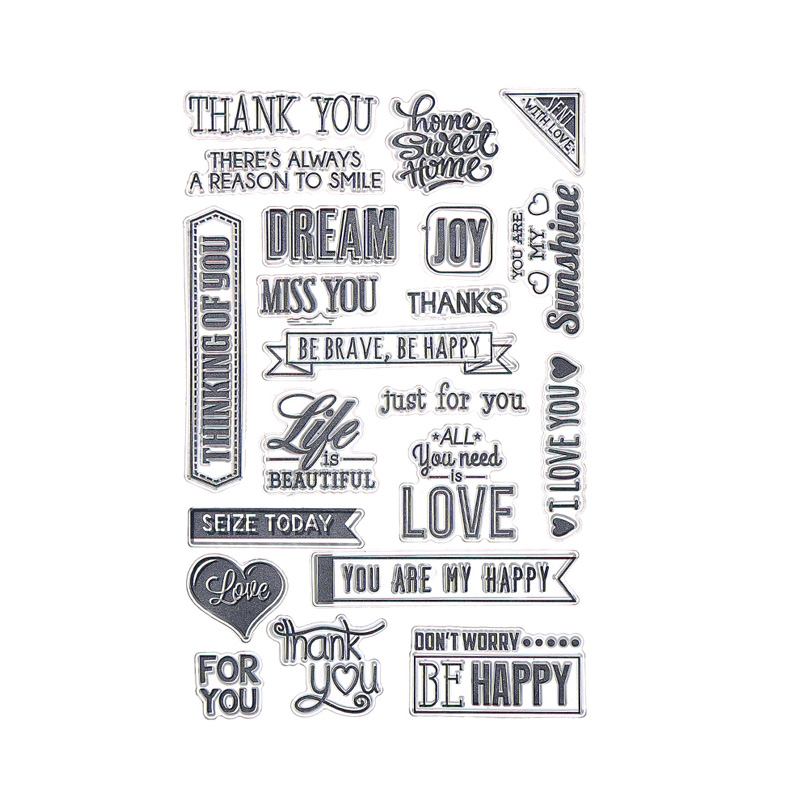CCINEE Transparent Stamp Clear Stamp Love Style Pattern Stripe DIY Scrapbooking/Card Making/Christmas Decoration Supplies