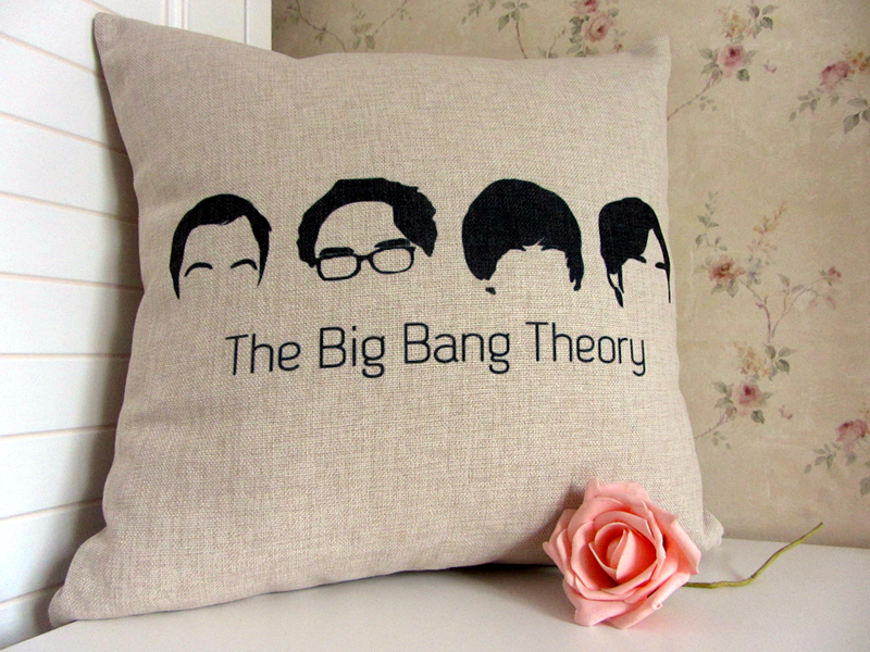 Situation comedy American tv show bolster The Big Bang Theory pillow Back Support Home Textile Cushion cover Cotton fabric