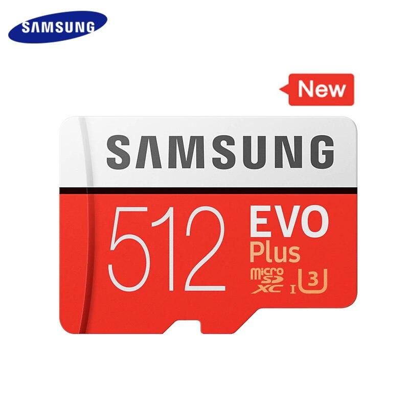 100 Original SAMSUNG carte mémoire 512GB haute vitesse 100 mo/s classe 10 U3 TF cartes UHS-I EVO PLUS Micro carte SD