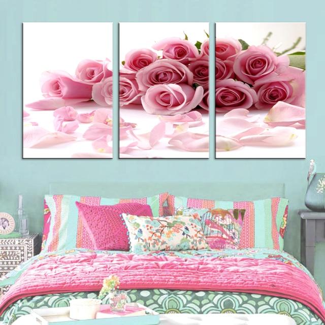 cuadros decoracion dormitorio decoratif Modular painting flowers ...