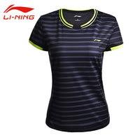 Li Ning Women S Badminton Competition Short T Shirts Thin Breathable AT DRY Sports Tops Li
