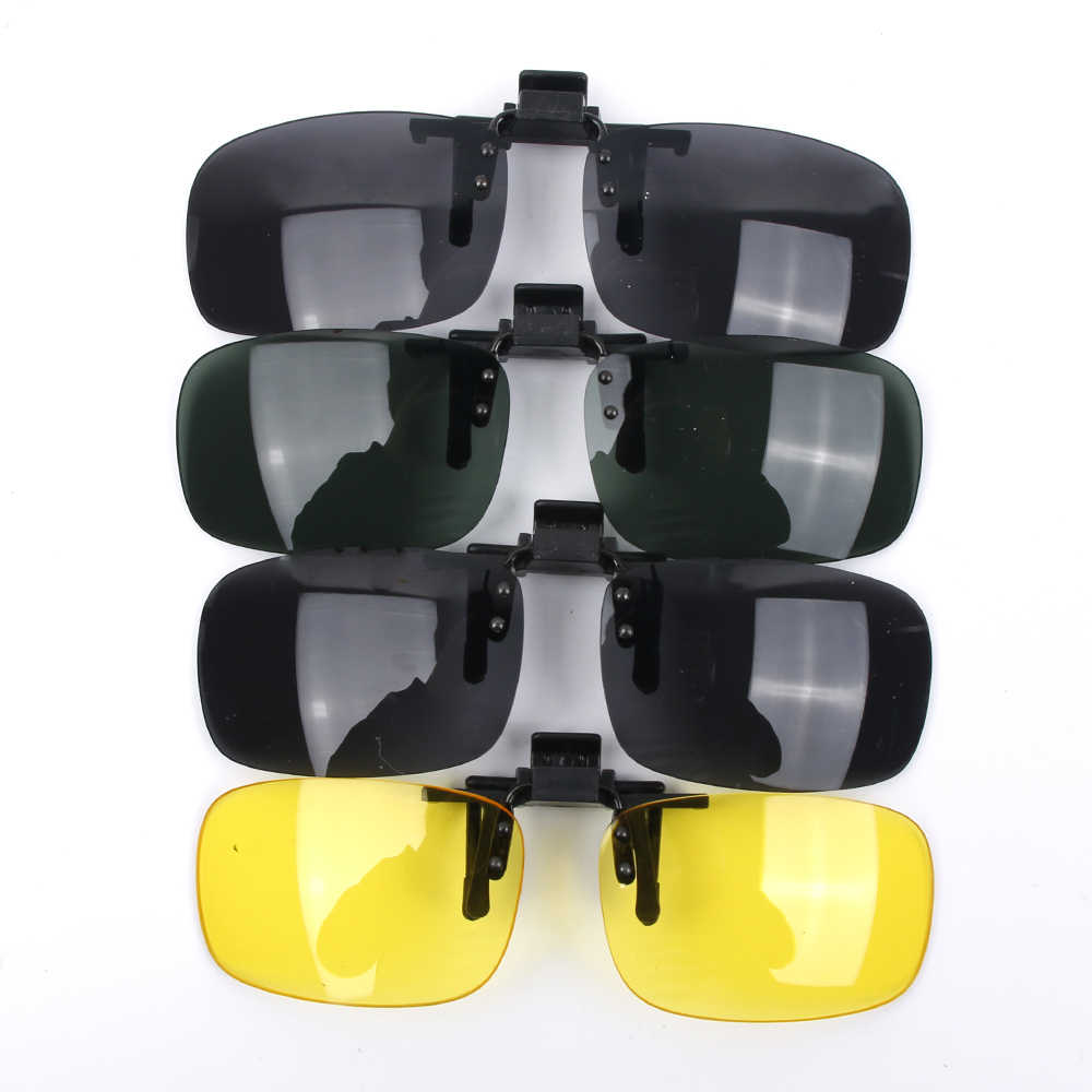 c7ff547d3a Polarized Day Night Vision Clip-on Flip-up Lens Sunglasses Driving Glasses  Accessories UV400
