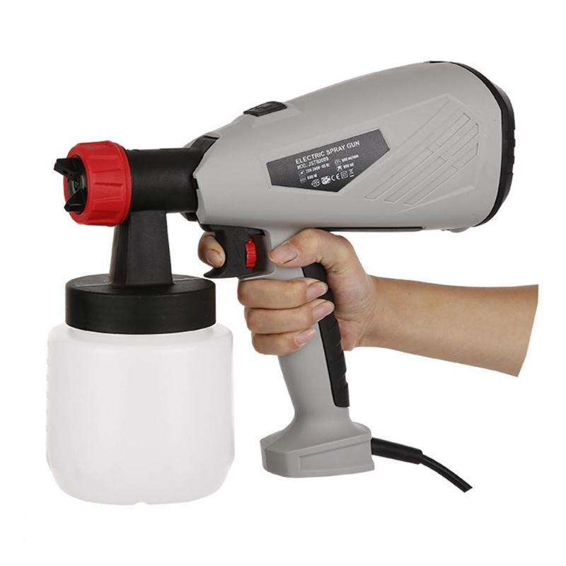 Pulvérisateur détachable de peinture de chocolat de gâteau de pistolet de jet électrique à haute tension avec les outils électriques réglables de contrôle de débit