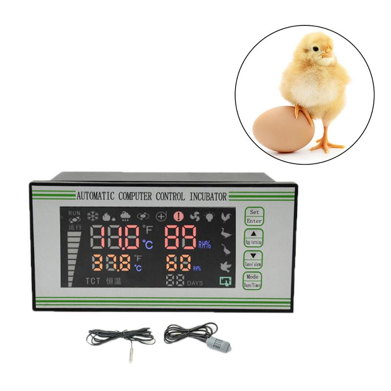 XM 18S Egg Incubator Controller Thermostat Hygrostat Full Automatic Control With Temperature Humidity Sensor Probe