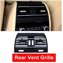 Car ABS Rear Heat Hole Interior Air Conditioning AC Vent Grill Outlet Panel Chrome Plate For BMW 7 series F01 F02 730 735 740