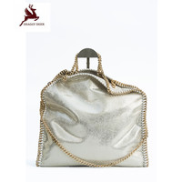 NEW Exclusive Shaggy Deer Brand Luxury Quality 3 Chain Falabellas Handbag Fold Over Classical PVC Large