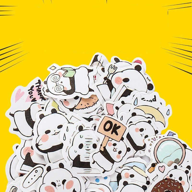 1pcs Kawaii di Cancelleria Adesivi cute Panda modello scrapbooking Pubblicato planner Scuola ufficiale memo Forniture