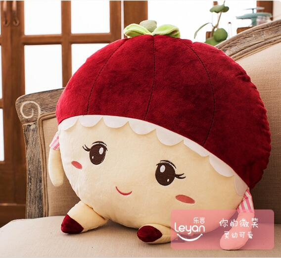 candice guo! cute creative plush toy doll cartoon fruit smiling Mangosteen Durian lovely couple cushion birthday gift 1pc candice guo plush toy stuffed doll cartoon smile cloud sunny couple cute pillow cushion children birthday gift christmas present