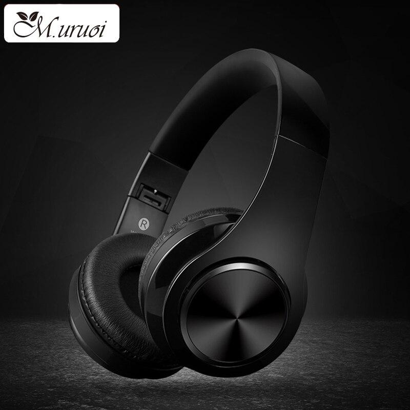 M. uruoi Casque Basse Écouteur Bluetooth Mains Libres Casque Musique Pour MP3 Lecteur Sans Fil Sport Stéréo HIFI Pour Sony Écouteurs