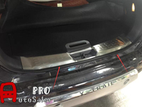 Steel Rear Outer & Inner Bumper Protector Trunk Step Guard Threshold Plate Trim For Nissan X Trail T32 Rogue 2014 2015
