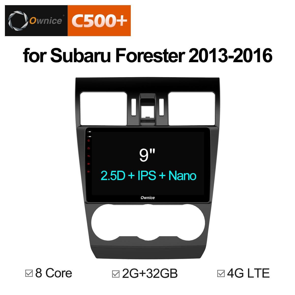 Ownice C500 + G10 Android 8.1 Octa Núcleo Carro DVD Player de Navegação GPS Som Do Carro para Subaru Forester 2013 2014 2015 2016 gb 4 32g
