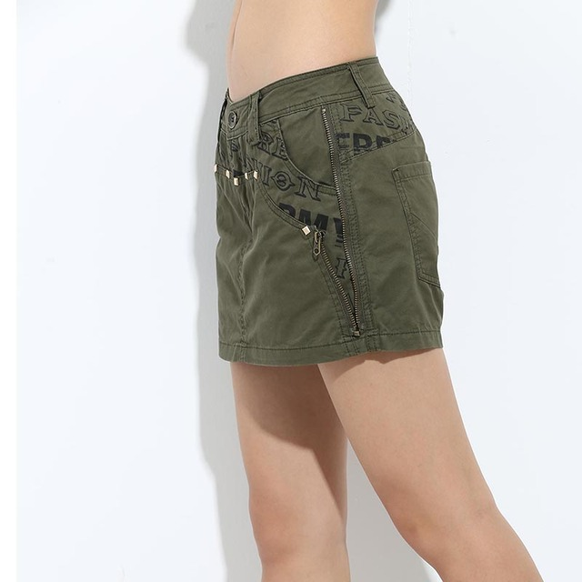 20de80ffa2 Mode Automne Jupes Casual Imprimé Jupe Shorts Femme Mi Taille Mince D'été  Militaire Armée
