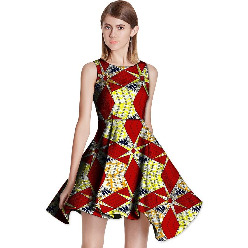 Nouveau Design Africain Femmes Imprimer Robe Des Fêtes Africain Imprimé Robes Dames Parti Custom Made Dashiki Africaine Femmes Vêtements