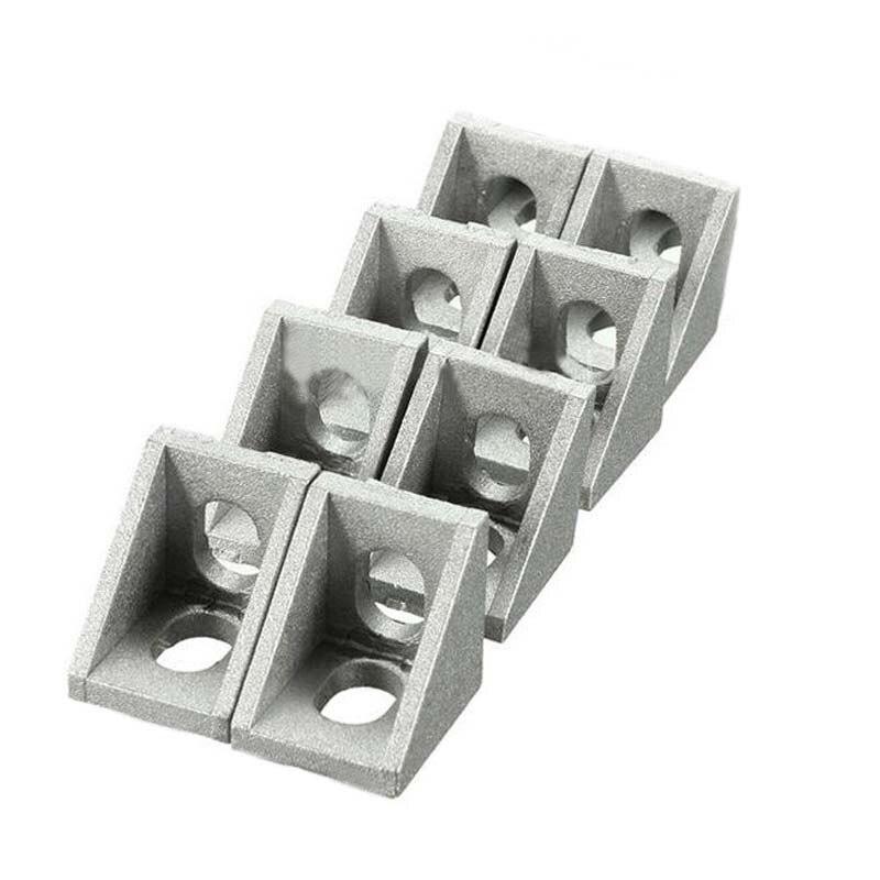 10 pièces/25 pièces Aluminium 2020 coin support raccords 20x20x17mm coin Angle support pour connecteur Aluminium profil CNC routeur