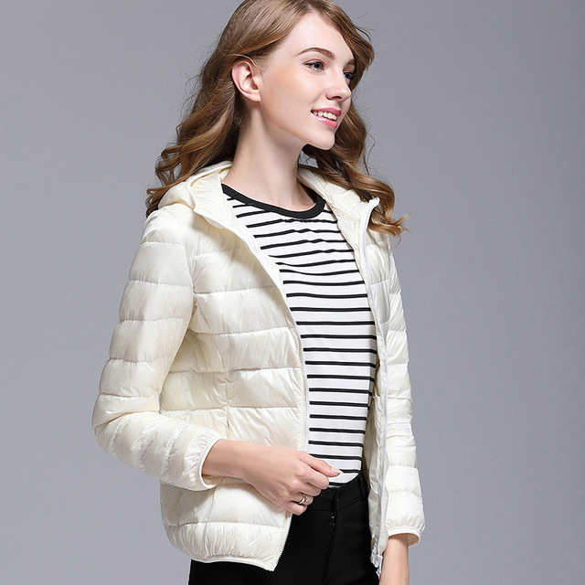 GODLIKE  2017pure color ladies trendy winter coat/fashionable casual down jacket/Pure color, lightweight down jacket 5