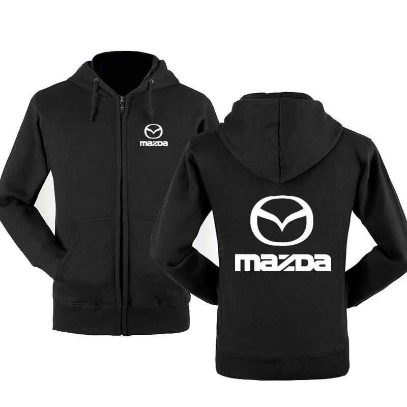 New Fashion Mazda Car Logo Sweatshirt Hoodies Men Hoody Spring Autumn Fleece Cotton Zipper Jacket HipHop Harajuku Male Clothing