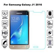 2 uds de cristal para Samsung Galaxy J1 2016 Protector de pantalla película de vidrio templado para Samsung Galaxy J1 2016 J120F J120 SM J120F DS