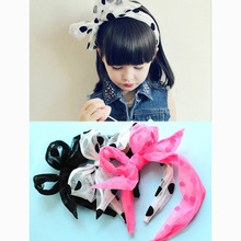Korea Hand Made Ribbon flowers Retro Hair Accessories Hairband for Kid Crown Hairpin Headbands For girls