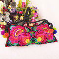 New National ethnic Embroidered bag Thailand Style embroidery shoulder messenger bag women's fashion Clutch small handbag