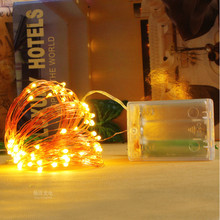 led string lights silver wire garland powered by 5v battery usb fairy light home christmas wedding party decoration LED String lights 4M Silver Wire Garland Home Christmas Wedding Party Decoration Powered by 4.5V 3AA Battery Fairy light