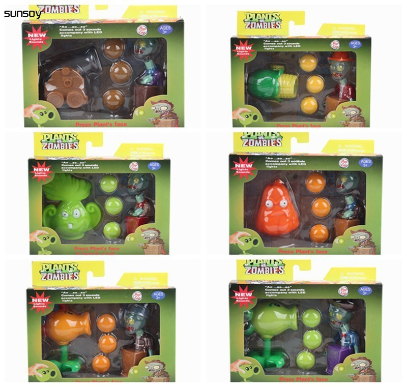 2016 New Plants vs Zombies Peashooter PVC Action Figure Set Model Toy Game Toys For Children Gift High Quality Baby Brinquedos  3 8cm plants vs zombies action figure toy pvc plants vs zombies figure model toys for children collective brinquedos