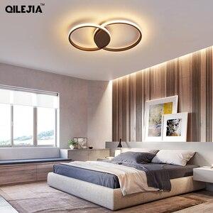 Image 3 - Светодиодная потолочная лампа для гостиной, спальни, кабинета, Декор для дома, Современная потолочная лампа с креплением на поверхность белого/кофе