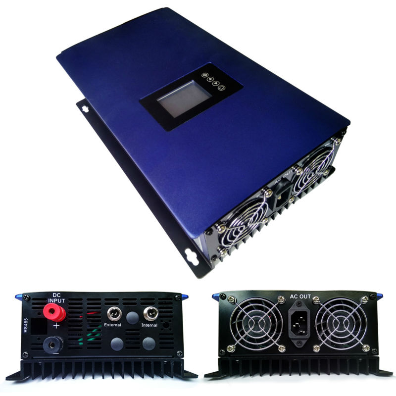 MAYLAR@ LCD 1000W Solar Grid Tie inverter with limiter,MPPT pure sine wave power inverter DC22-60V/45-90V to 110VAC new grid tie mppt solar power inverter 1000w 1000gtil2 lcd converter dc input to ac output dc 22 45v or 45 90v