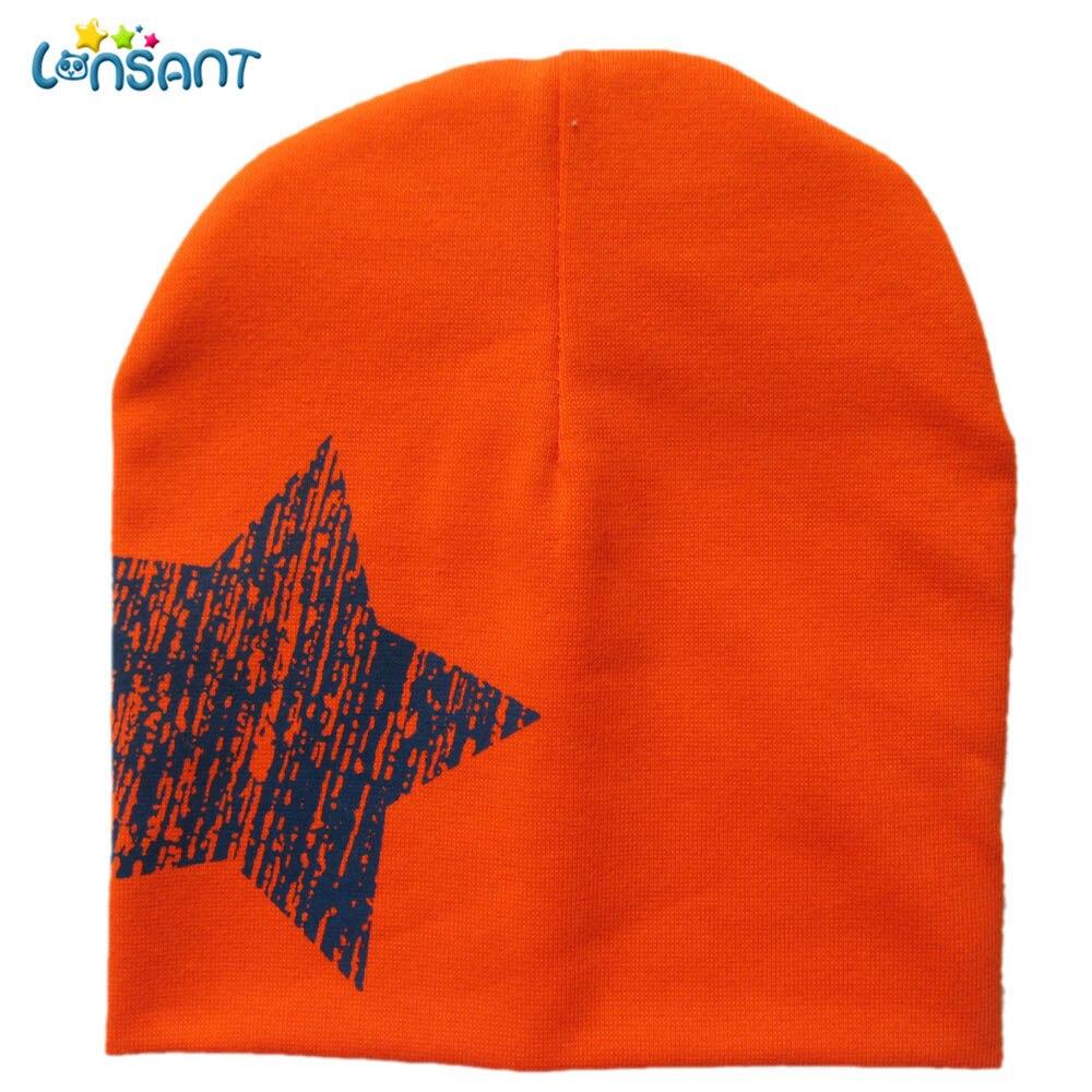 LONSANT New Hot Baby Girl Autumn Newborn Print Star Baby Beanie For Boys Girls Cotton Knit Hat Children Winter Hats