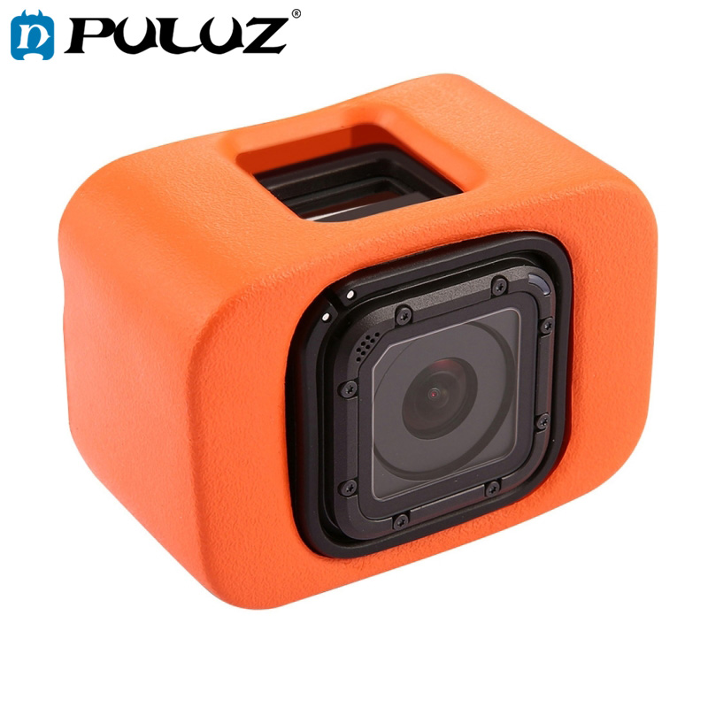 PULUZ Soft Case For GoPro Floaty Case Backdoor For Go Pro HERO5 Session 4 Session Color Orange Soft Cases Go Pro HERO4 Session in Sports Camcorder Cases from Consumer Electronics